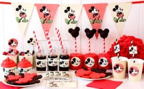 Kit festa Mickey Mouse vintage