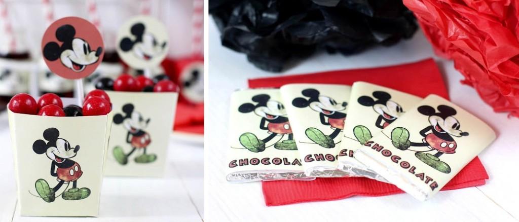 kit festa Mickey Mouse vintage