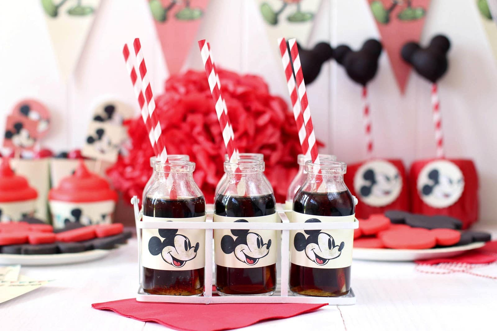 Minnie mouse ideas de fiestas car interior design - Fiesta tematica mickey mouse ...