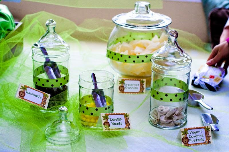 chá de bebê verde