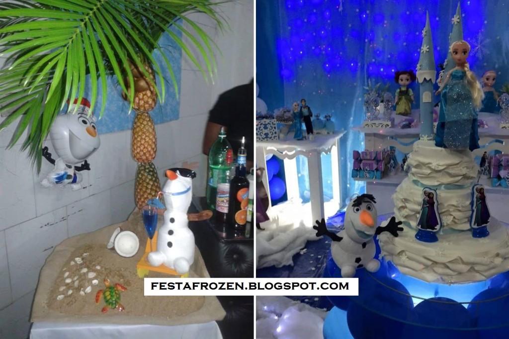decoração para festa Frozen