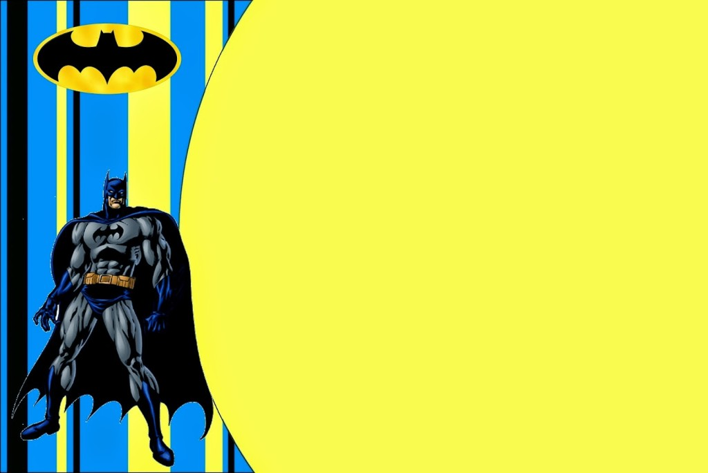 Convite Batman Baixe Grátis Fazer Festa Fácil