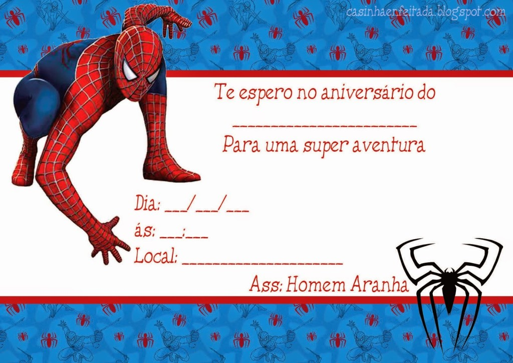 Convite Homem-Aranha (4)
