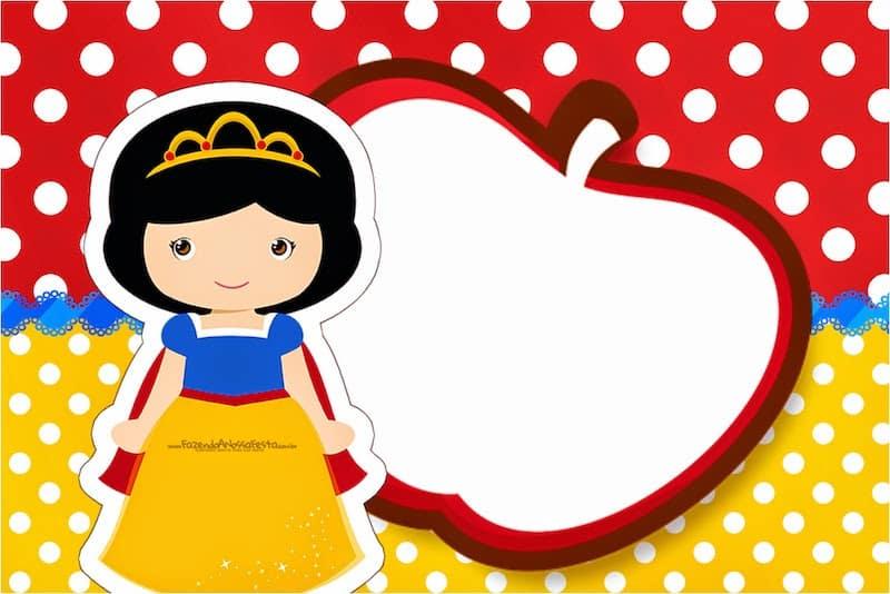 ConviteMoldura-Cartão-Branca-de-Neve-Cute1