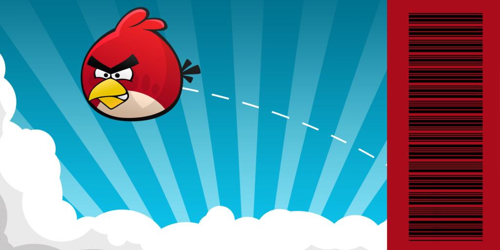 convite ingresso angry birds