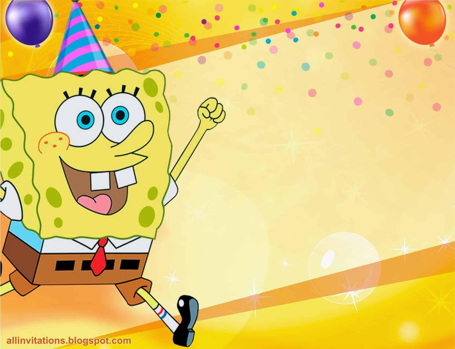 Спанч боб картинка с днем рождения